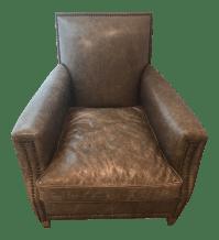 Restoration Hardware Distressed Leather Chair | Chairish