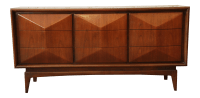 United Furniture Mid-Century Modern Diamond Front Dresser ...