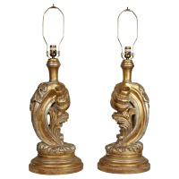 French Rococo Style Table Lamps - Pair | Chairish