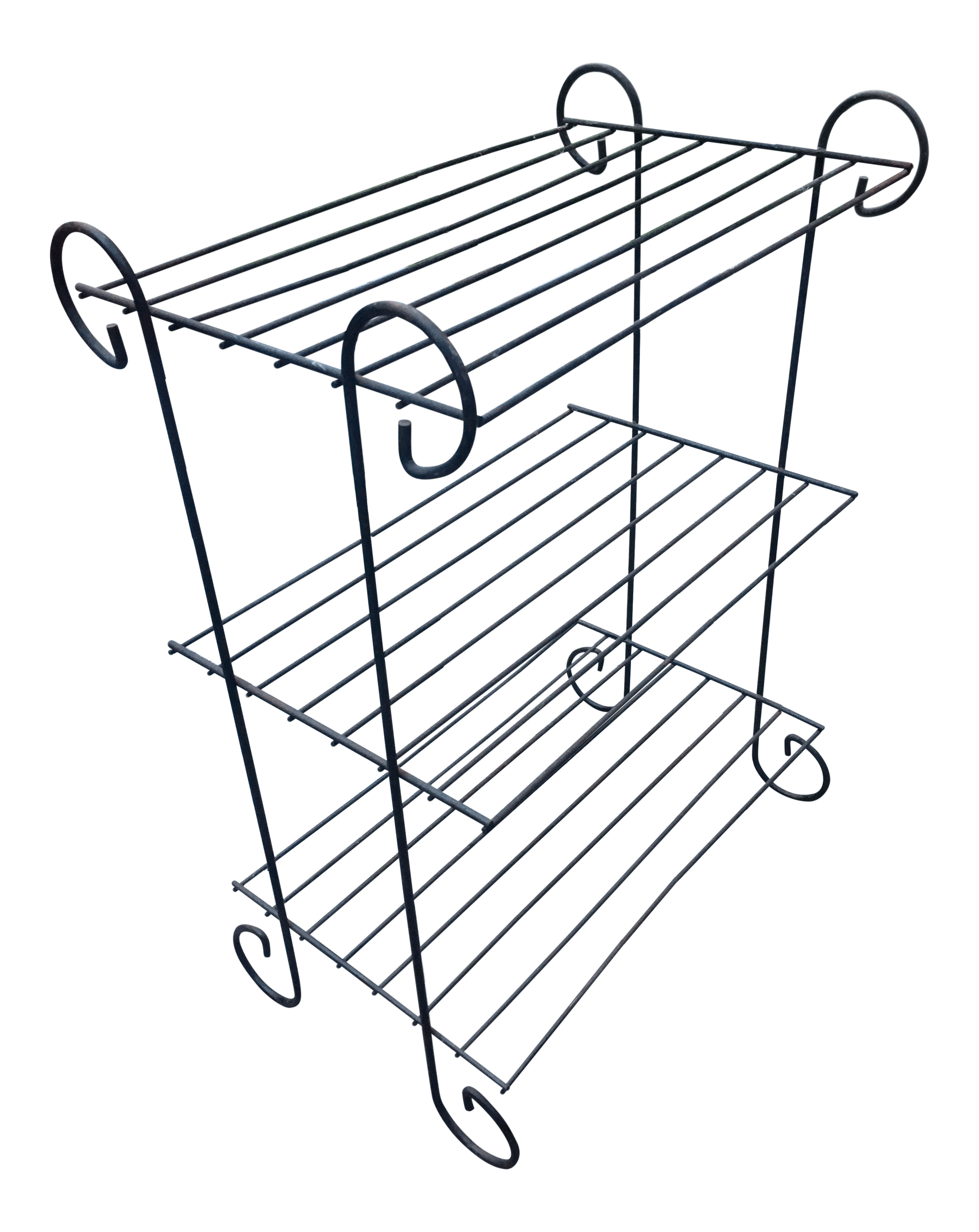 Black Wire Plant Stand 1960 39s Black Metal Plant Stand Chairish