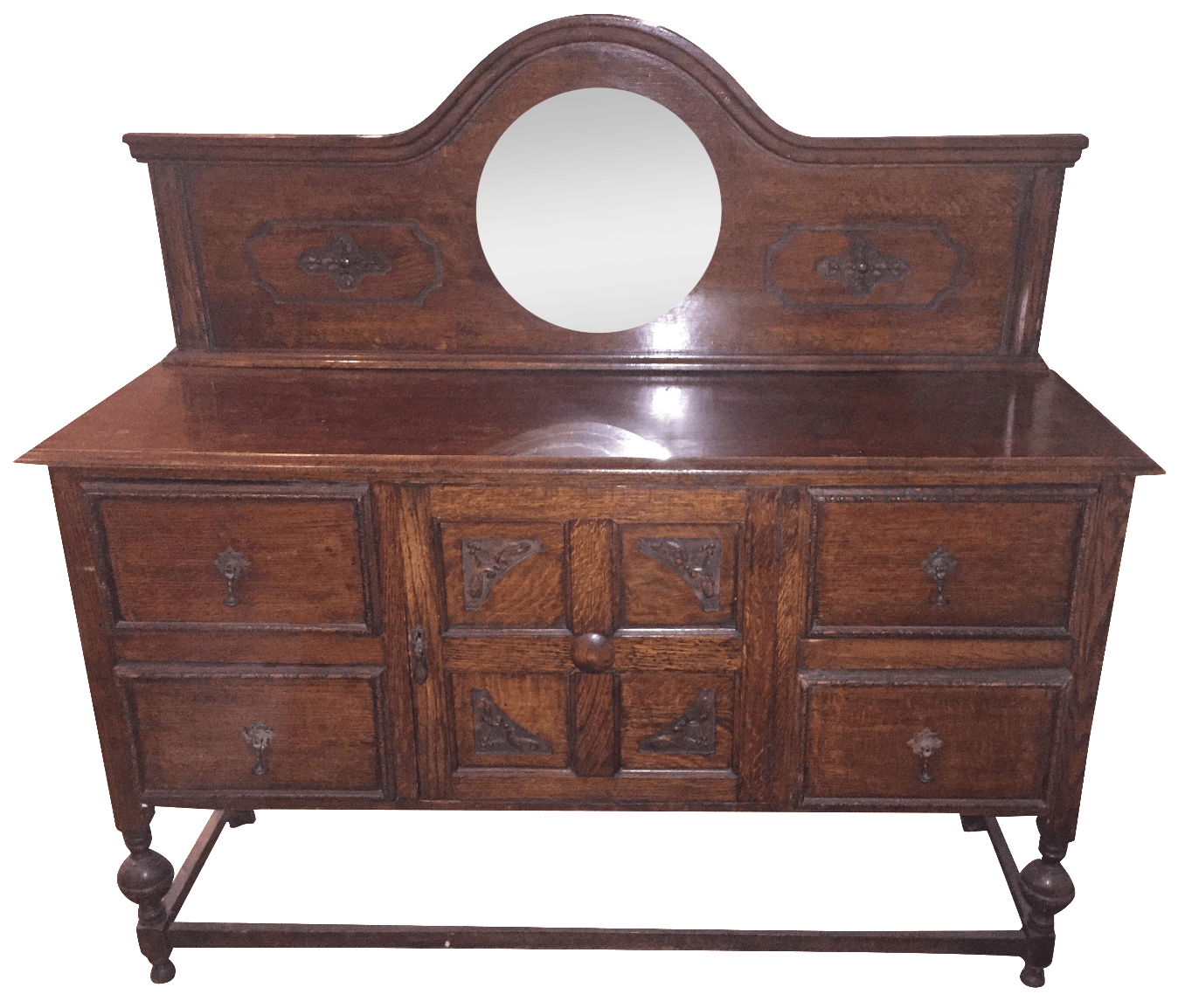 Vintage Oak Sideboard With Mirror Antique Oak Sideboard With Mirror Chairish