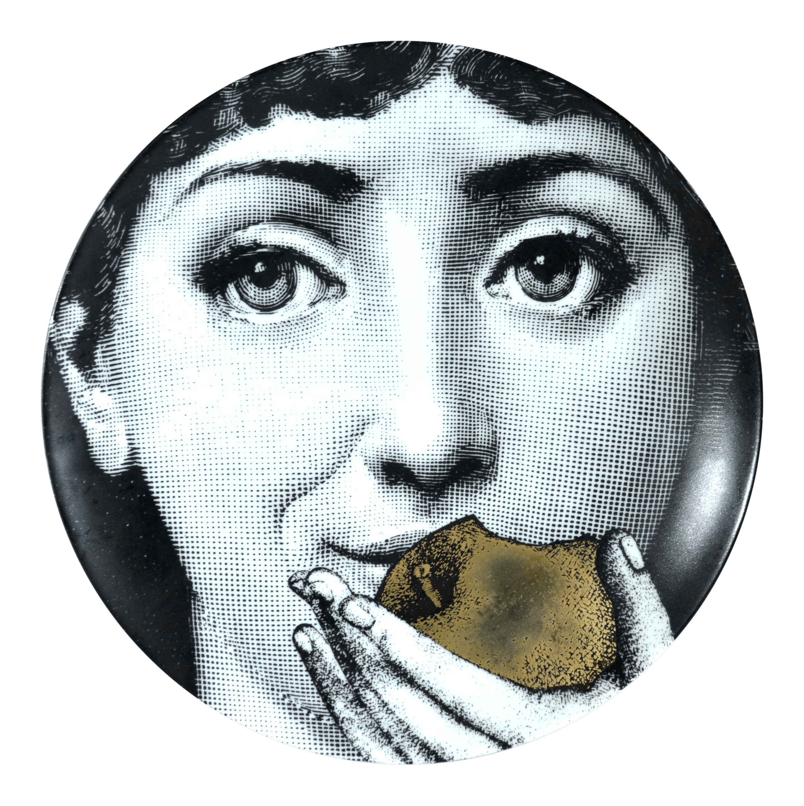 Fornasetti Face Wallpaper Fornasetti Gold Tema E Variazioni Plate Number 360 The