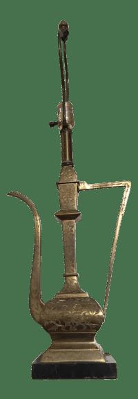 Vintage Brass Aladdin Genie Table Lamp   Chairish