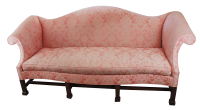 Southwood Furniture Pink Camelback Sofa | Chairish
