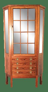 Bruksbo Mid Century Modern Corner Rosewood Curio Cabinet ...