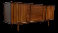United Furniture Mid-Century Walnut Dresser | Chairish