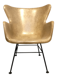 Selig Fiberglass Wingback Chair | Chairish