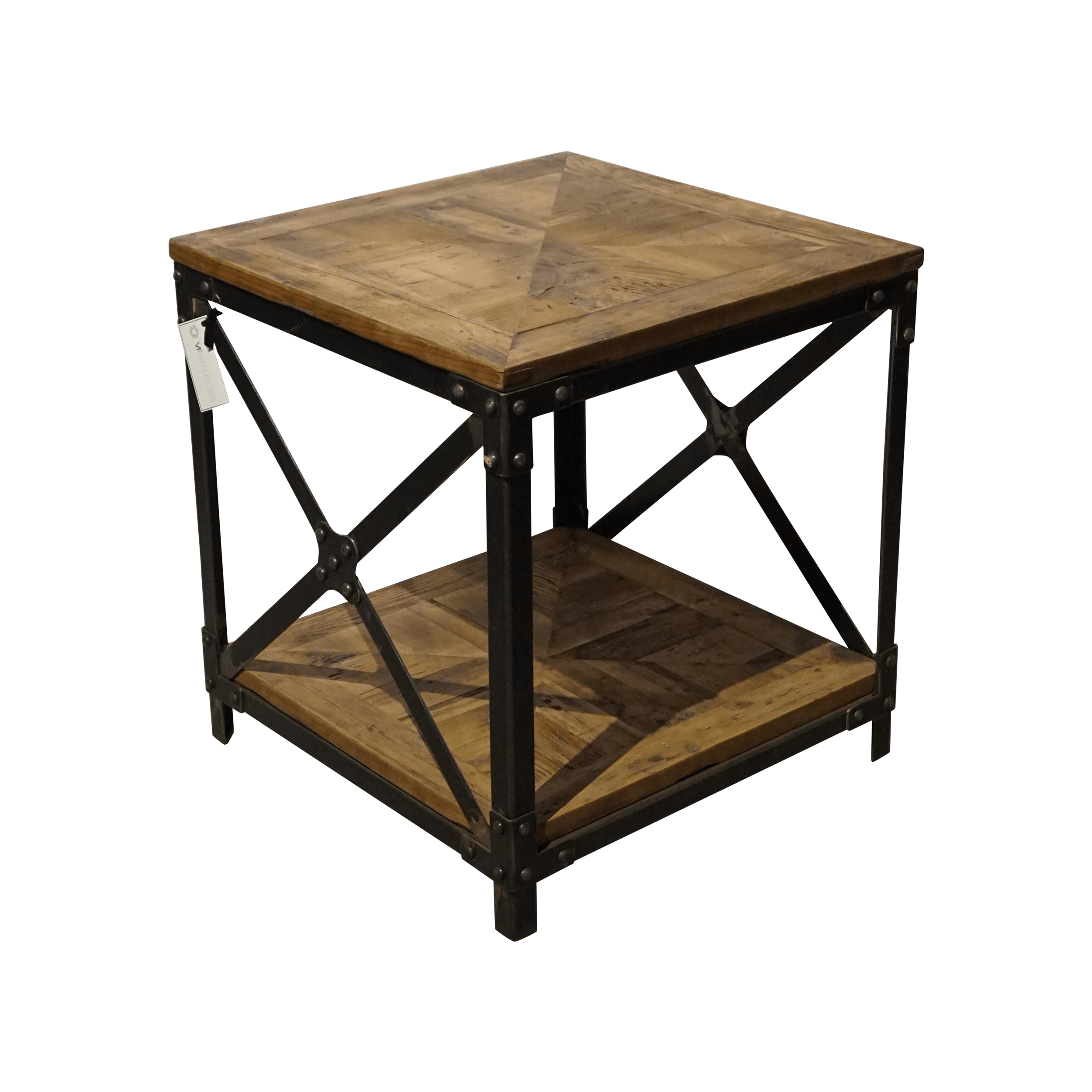 Wood And Metal Side Tables Wood And Metal Side Table Chairish