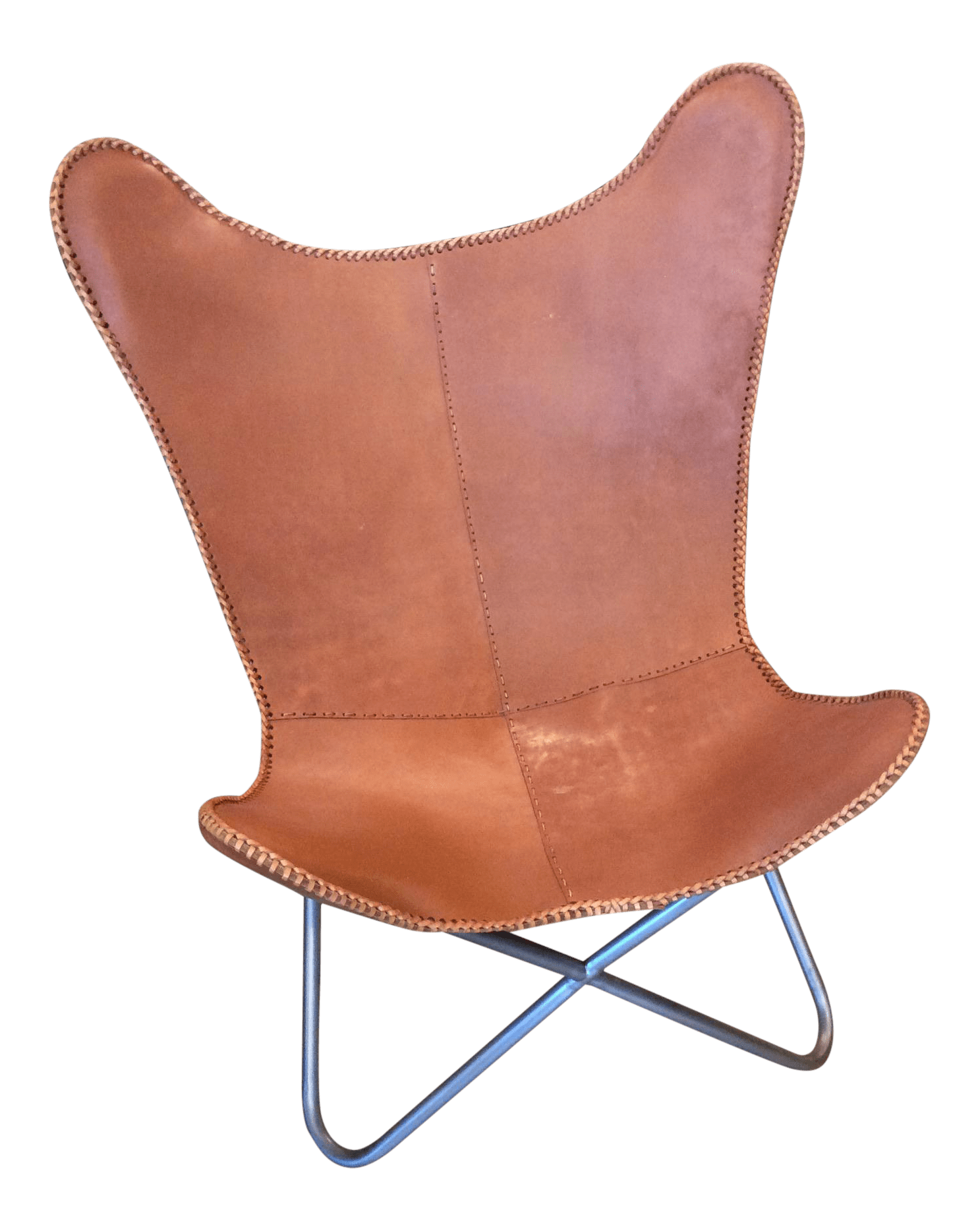 Butterfly Chair And Ottoman Leather Butterfly Chair Chairish