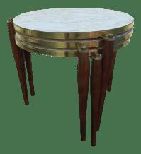 Mid-Century Marble Laminate Nesting Tables - Set of 3 ...