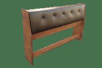 Tufted Leather & Wood Storage Headboard | Chairish