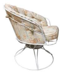 Mid Century Modern White Homecrest Swivel Metal Chair ...