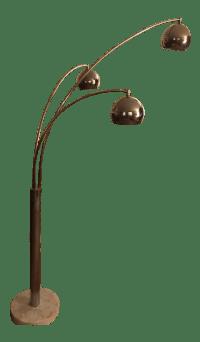 Mid-Century Modern Chrome 3 Light Floor Lamp   Chairish