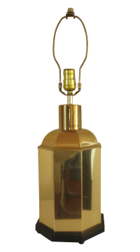 Vintage Brass Asian Canister Lamp | Chairish