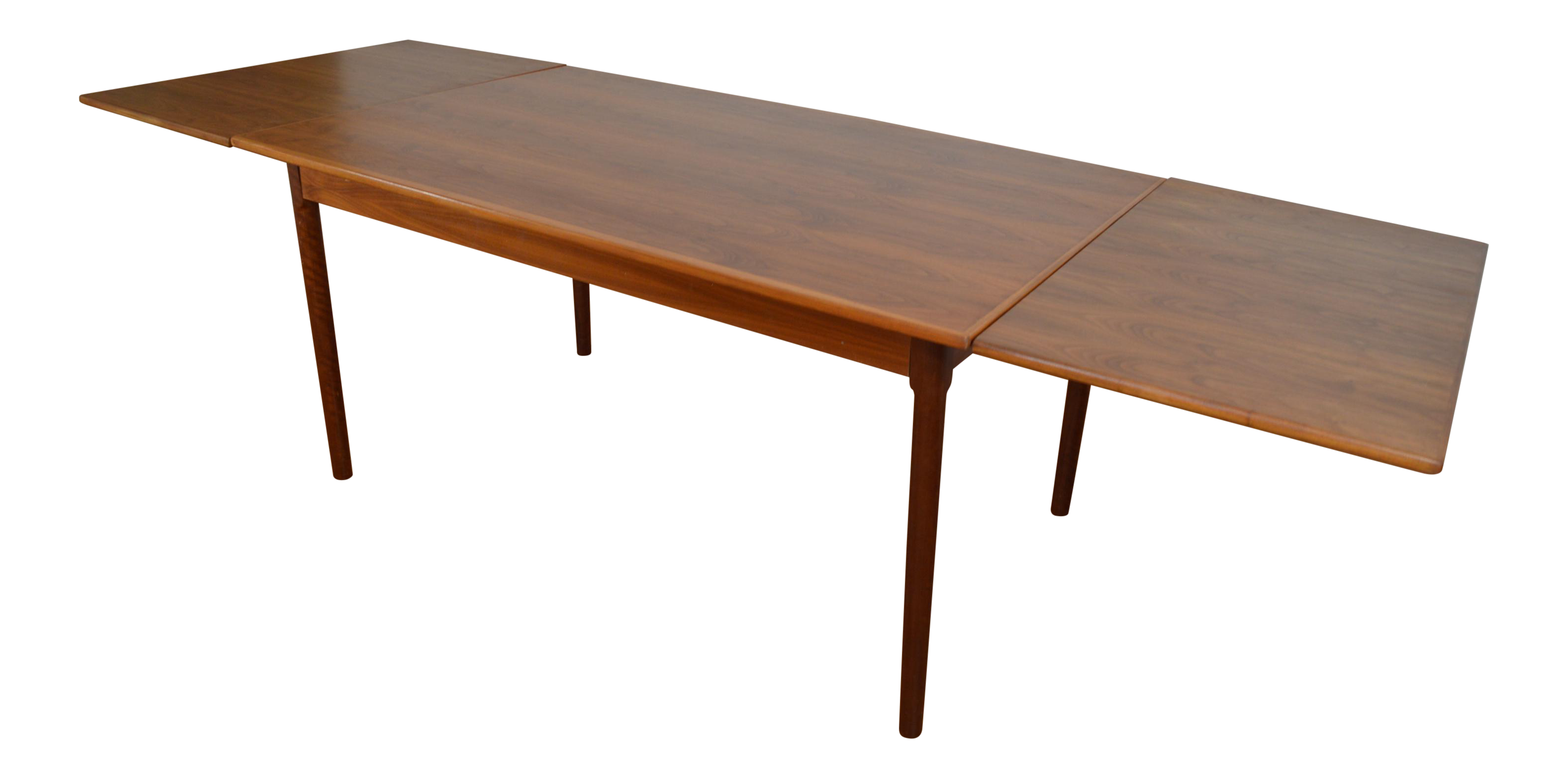 Modern Dining Table With Leaf Danish Modern Draw Leaf Dining Table Chairish