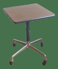 Eames Era Herman Miller Rolling Side Table   Chairish
