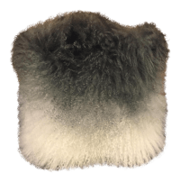 Ombr Mongolian Fur Pillow   Chairish