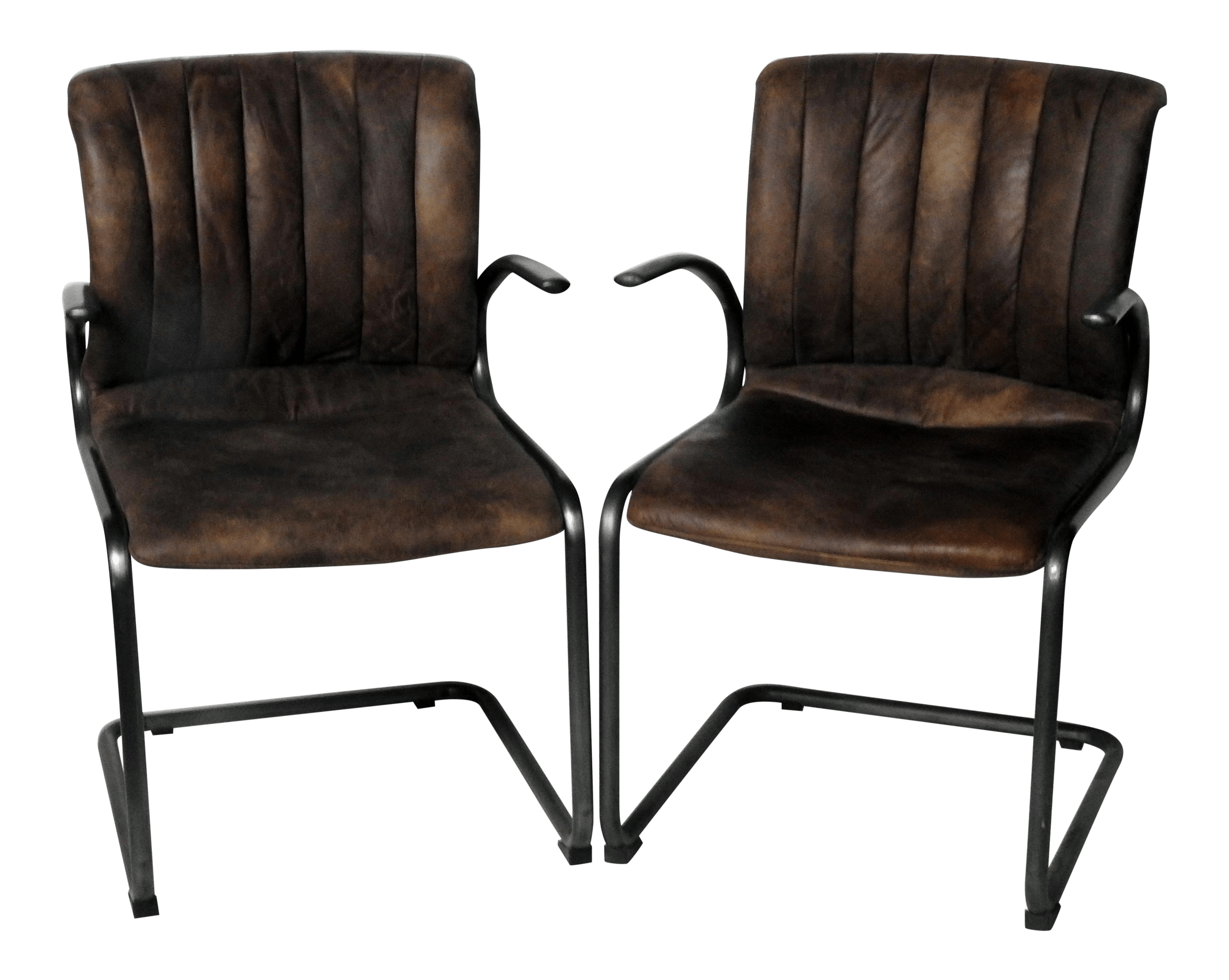 Industrial Look Chairs Industrial Style Arm Chairs A Pair Chairish
