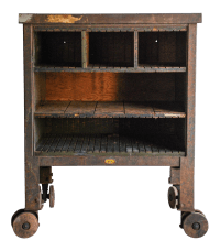 Vintage Industrial Rolling Factory Cart | Chairish