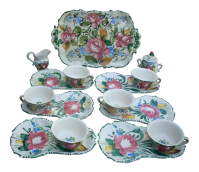 Vintage Italian Ceramic Dinnerware - Service for 6 | Chairish