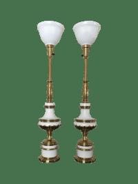 Hollywood Regency Stiffel Torchiere Lamps