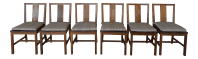 Crate & Barrel Arts & Crafts Style Teak Chairs - Set of 6 ...