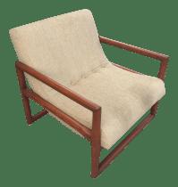 Vintage Mid-Century Lounge Chair | Chairish