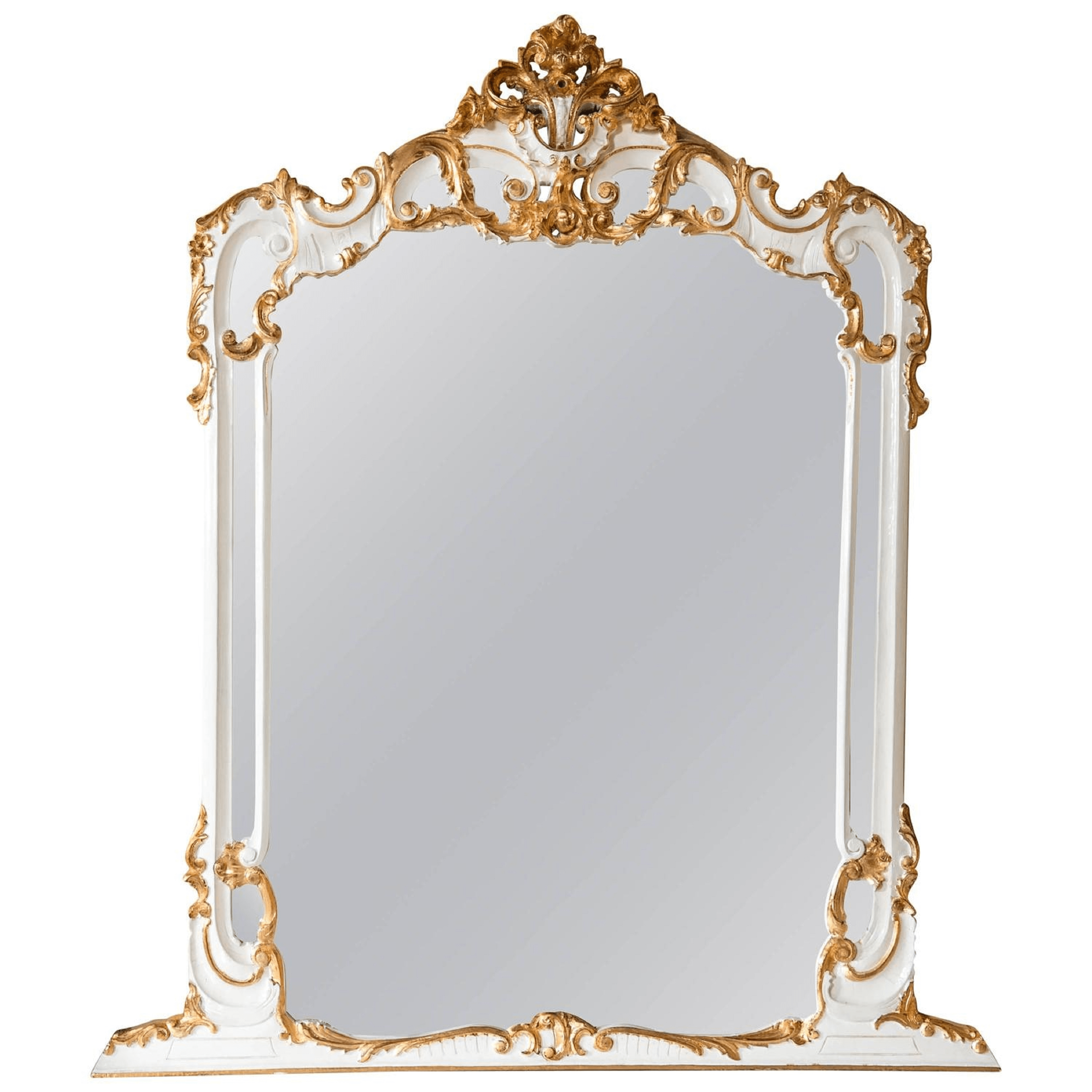 Small Gold Mirror Set Louis Xv Style White And Gold Mirror Chairish