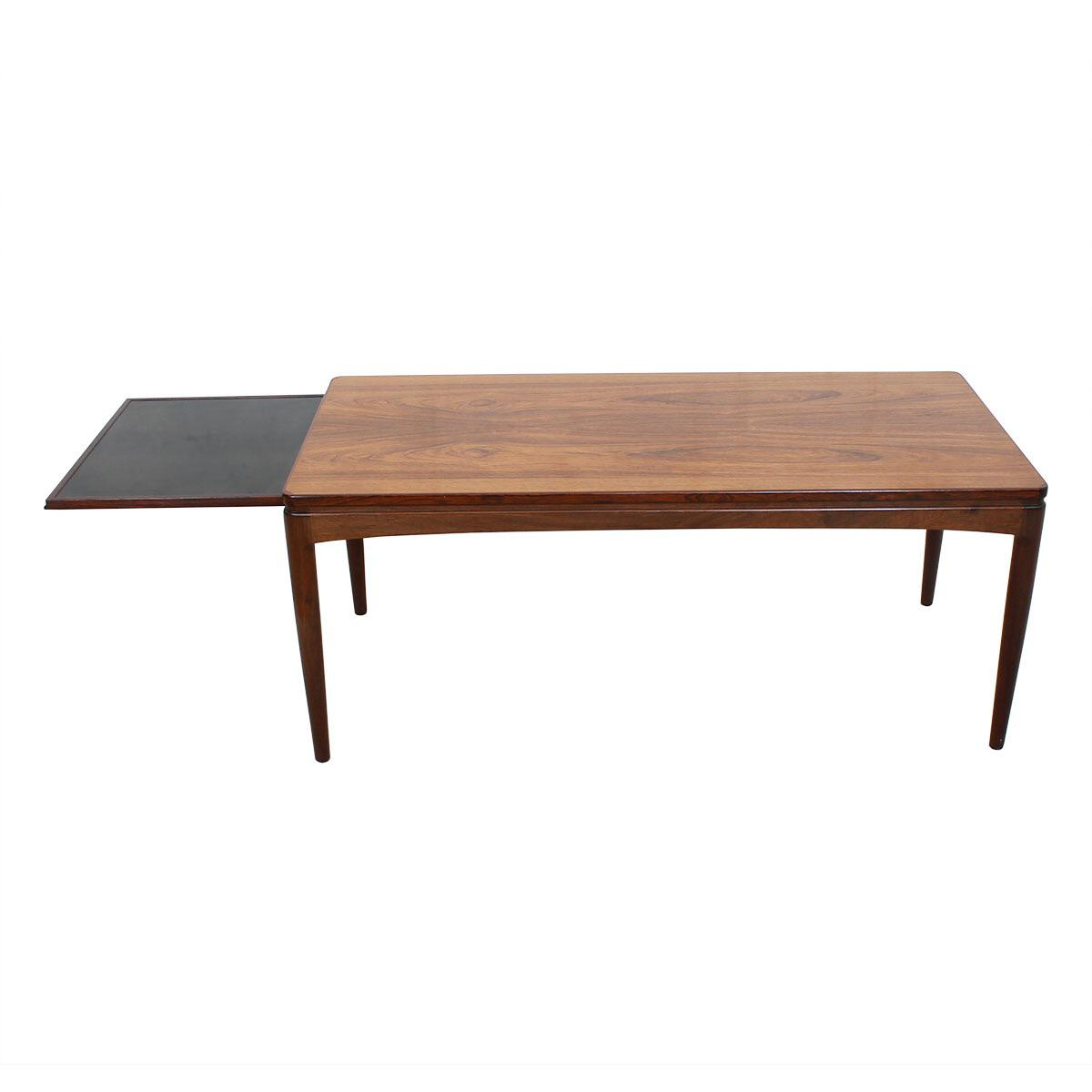 Coffee Tables With Ottomans That Pull Out Expanding Danish Rosewood Coffee Table With Pull Out Shelf