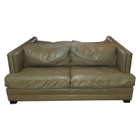 Restoration Hardware Leather Sofas - A Pair | Chairish