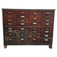31 Drawer Antique Storage Cabinet | Chairish