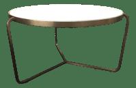 Marble Brass Coffee Table | Chairish