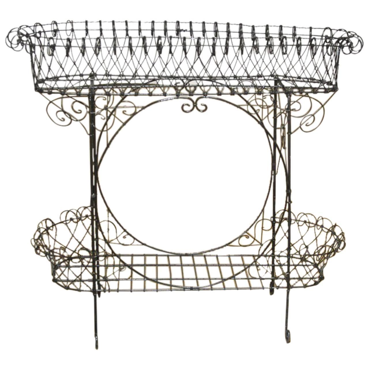Black Wire Plant Stand Black French Wire Plant Stand Chairish