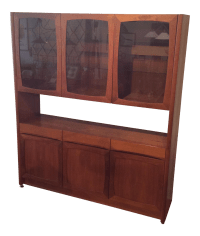 Danish Modern Teak Hutch by Nordic Furniture | Chairish