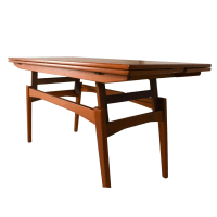 Danish Teak Convertible Dining / Coffee Table | Chairish