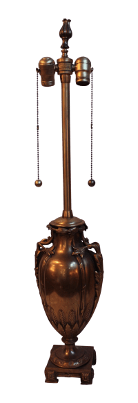 Vintage Marbro Bronze Urn Lamp | Chairish
