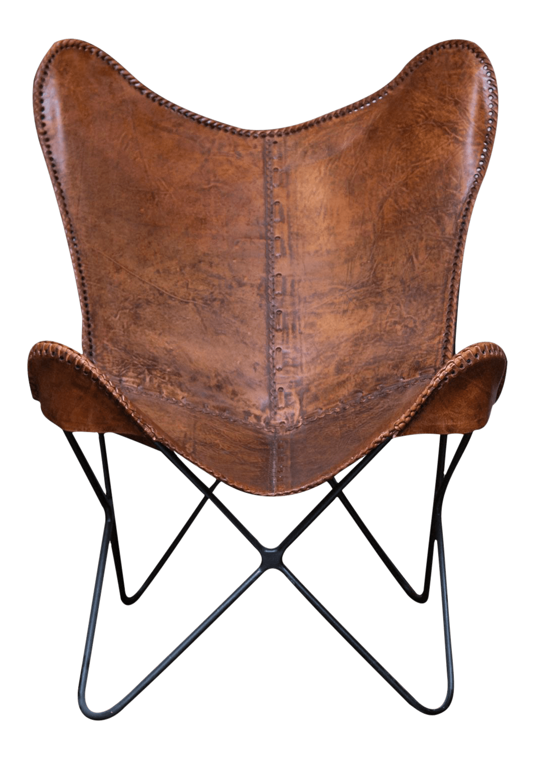 Butterfly Chair And Ottoman Vintage Leather Butterfly Chair Chairish