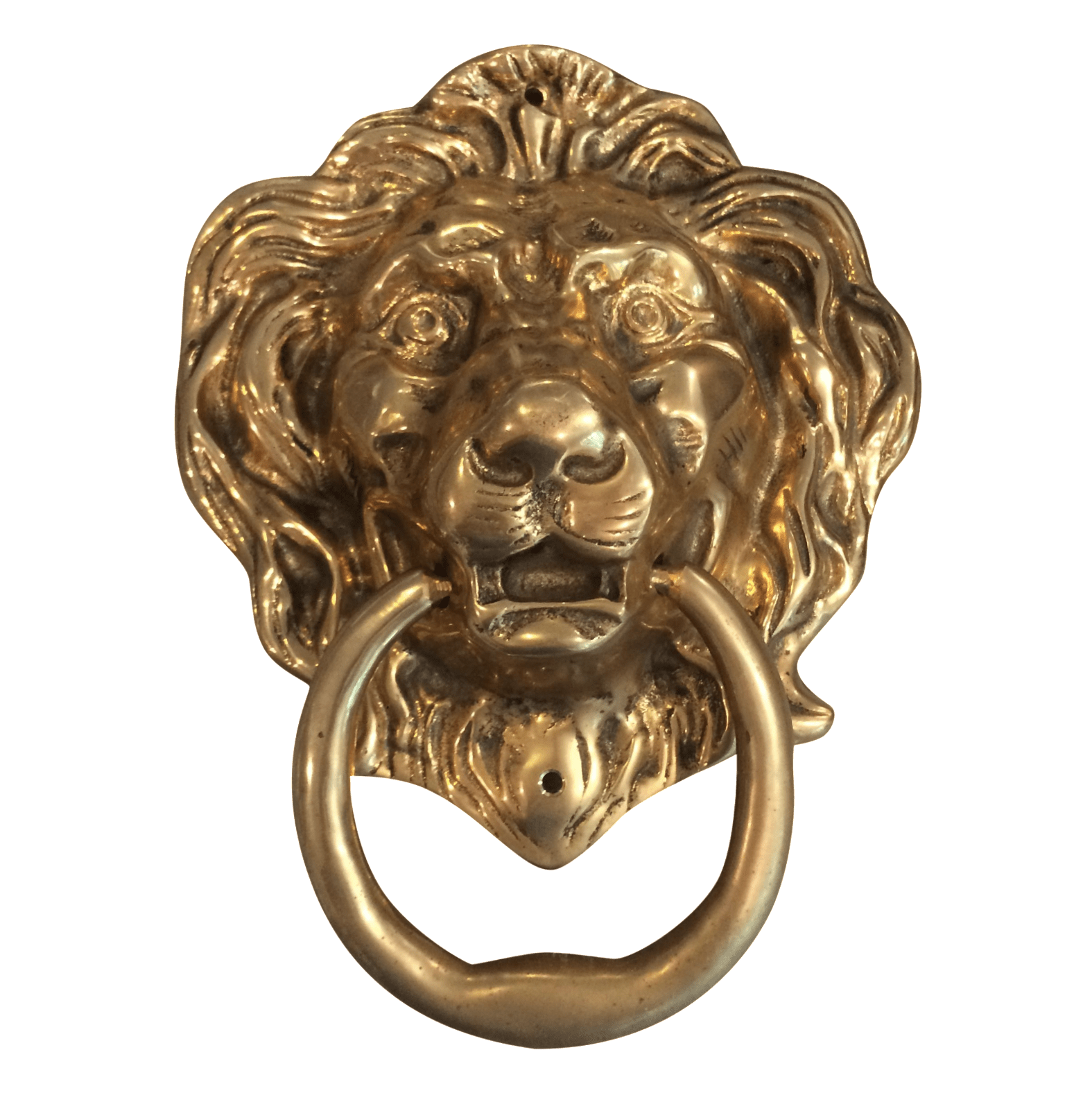 Door Nocker Oversize Brass Lion Head Door Knocker Chairish