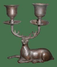 Brass Deer Antler Candle Holder | Chairish