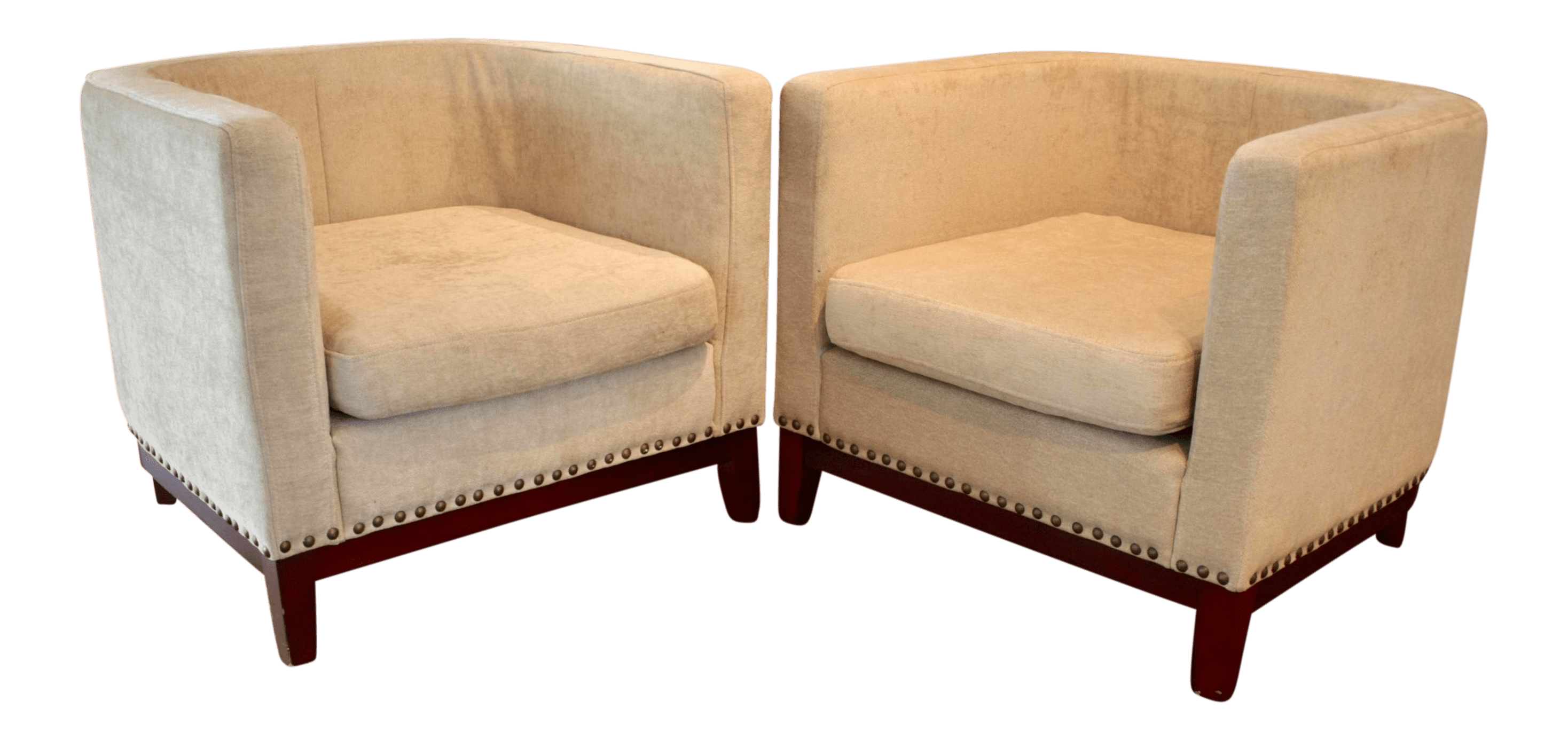 Curved Lounges Curved Lounge Chairs A Pair Chairish
