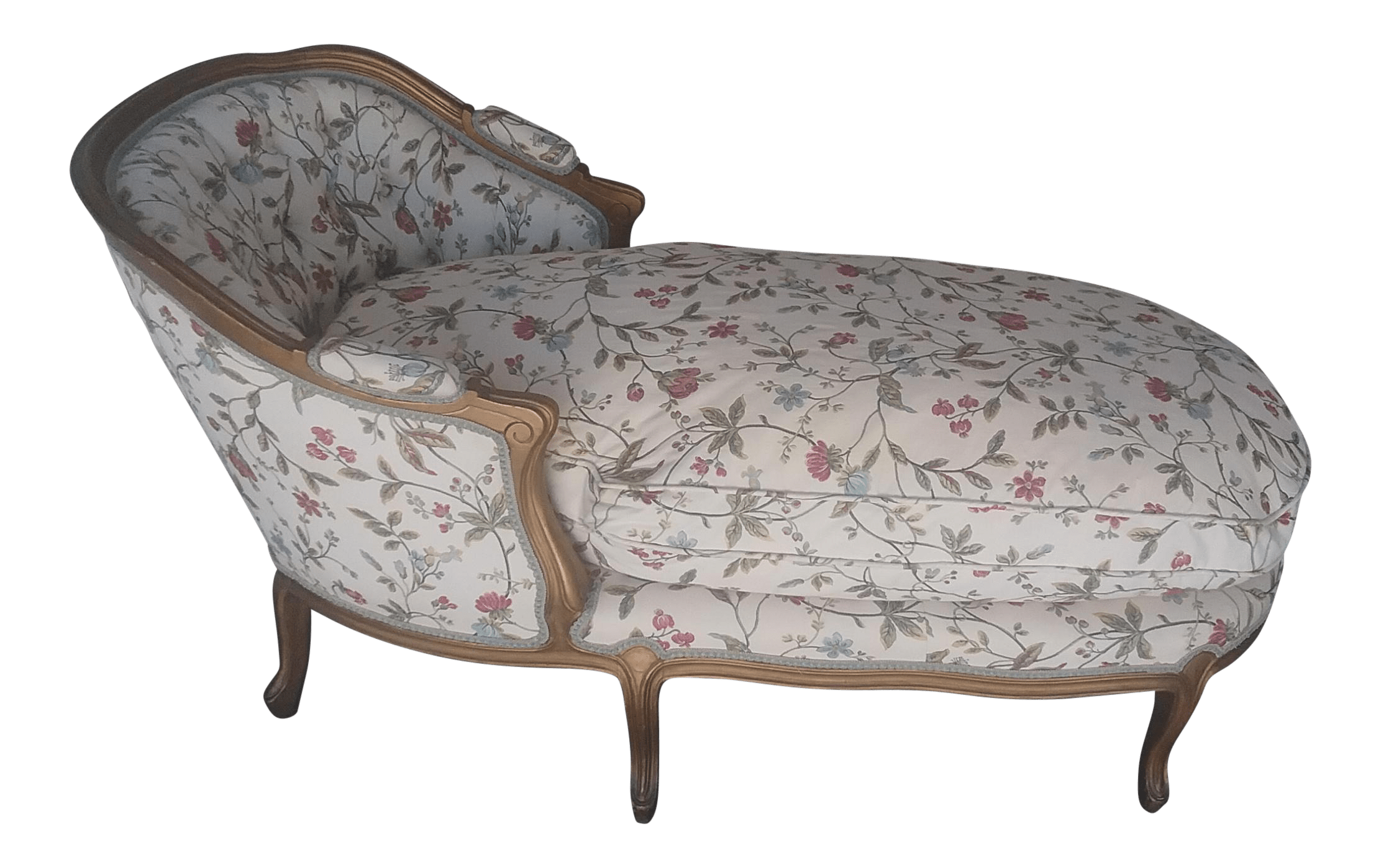 French Chaise Vintage Louis Xv Style French Country Chaise Lounge Chairish