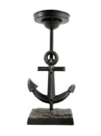 Ships Anchor Pillar Candle Holder