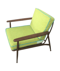 Vintage Mid-Century Retro Arm Chair | Chairish