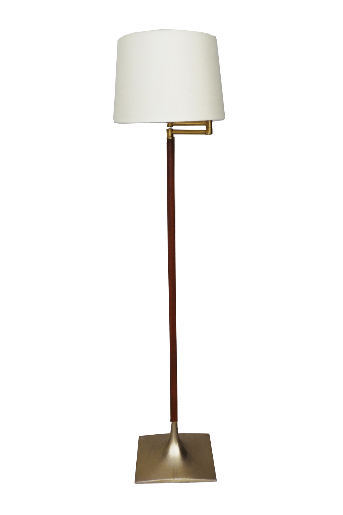 Minimalist Floor Lamp Mcm Brass Wood Minimalist Floor Lamp Chairish