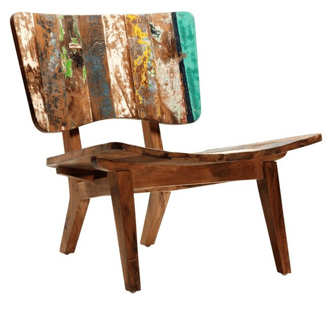 Indonesian Reclaimed Boat Wood Chair Chairish