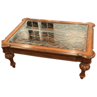 Ethan Allen Tuscan Coffee Table   Chairish