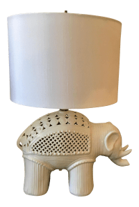 Italian Ceramic Elephant Table Lamp