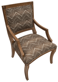 Vintage Upholstered Kreiss Chair | Chairish