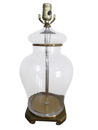 Ginger Jar Style Glass Table Lamp | Chairish