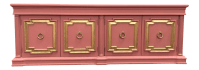 Hollywood Regency Style Pink & Gold Mid-Century Credenza ...